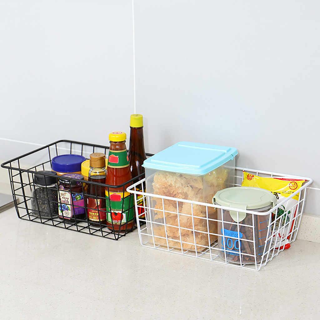 Fio de ferro Cesta De Armazenamento Organizador casa de Banho/Cozinha/Lavandaria Quartos Multi-Efeitos Dropshipping Apr16