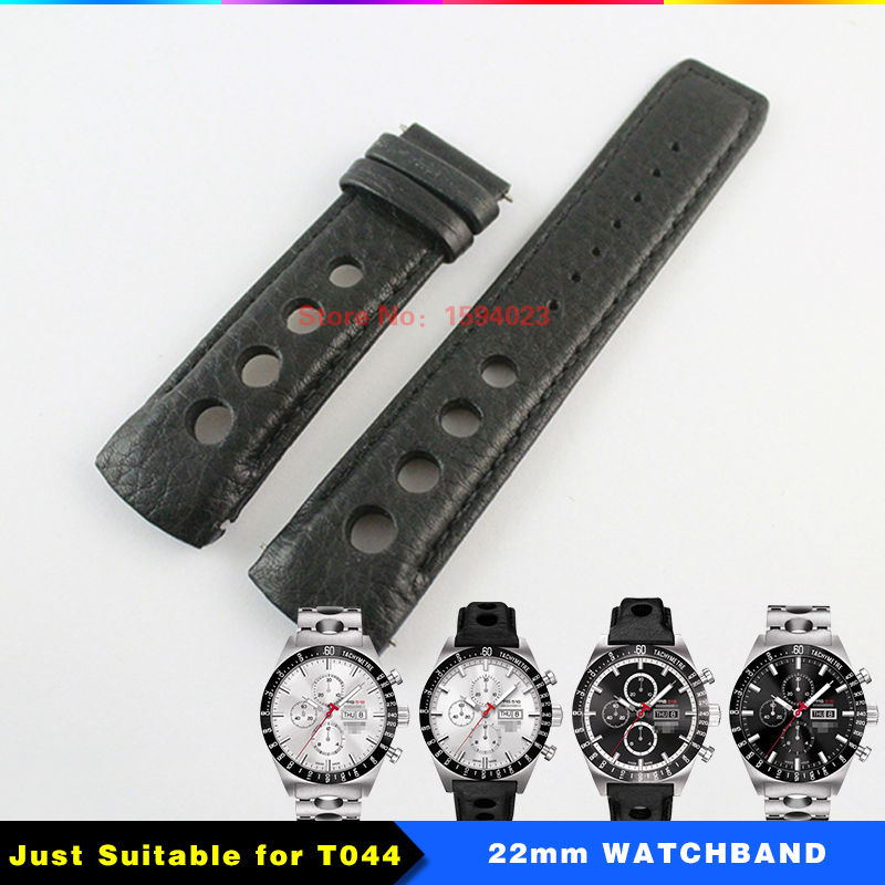 22mm T044614A PRS516 Watch Strap Durable Soft Genuine Leather Watchband Wrist Bracelet T044614 Watches Man Group 22mm Black 22mm new watchbands high quality ceramic watchband black diamond watch fit ar1406 man watches bracelet watch strap watchband