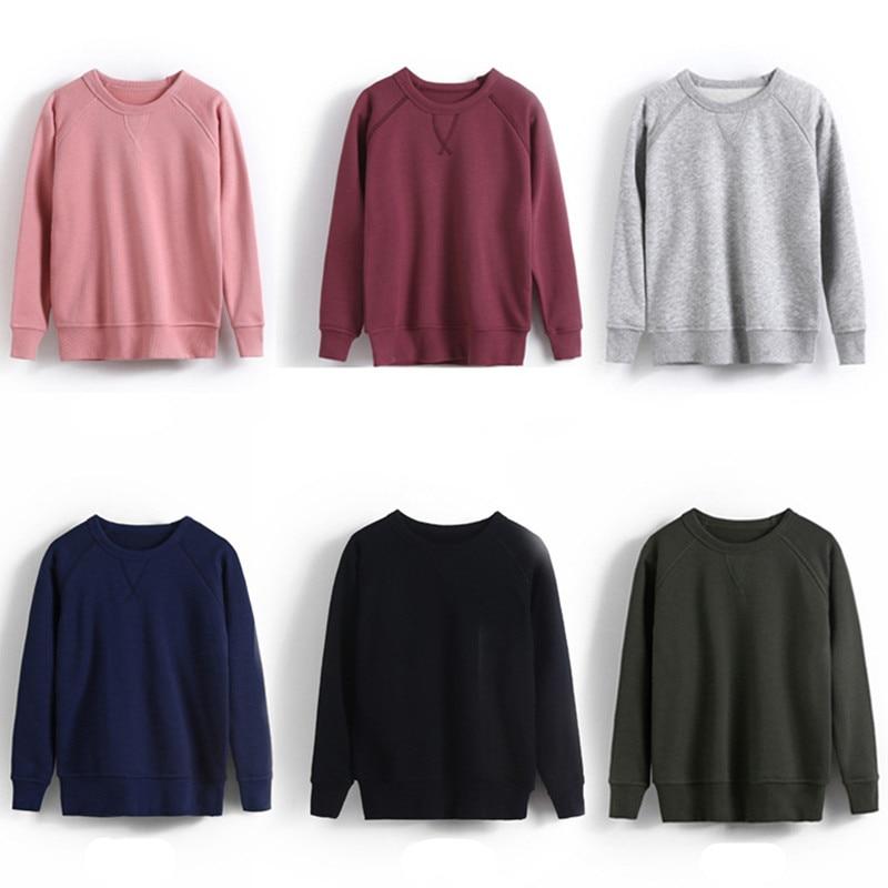 Sweatshirt Pullover Teenager Solid-Tops Long-Sleeve Fall Girls Autumn Boys Kids Children