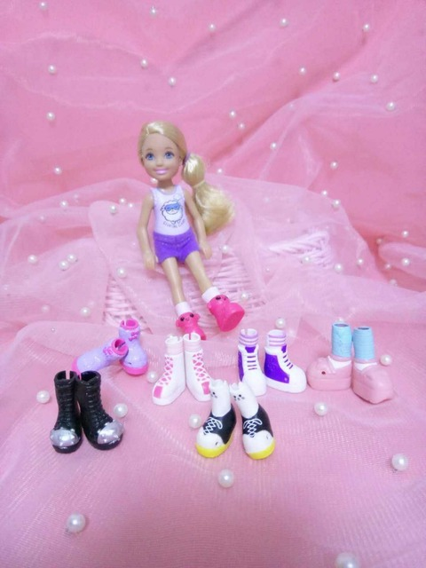 Cute Mini Doll Shoes Fashionable Simba Little Kelly Dolls Sneakers Boots Girl Kid's Toy Shoes Doll Accessories Gift 20Pairs/lot