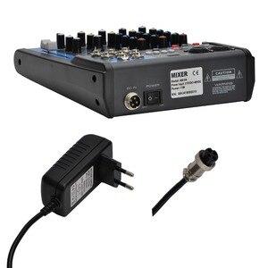 Image 2 - LOMOEHO AM 04 2 моно + 1 стерео 4 канала Bluetooth USB 48 В Phantom Профессиональный DJ аудио микшер
