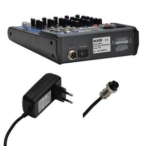 Image 2 - LOMOEHO AM 04 2 모노 + 1 스테레오 4 채널 블루투스 USB 48V 팬텀 프로페셔널 DJ 오디오 믹서