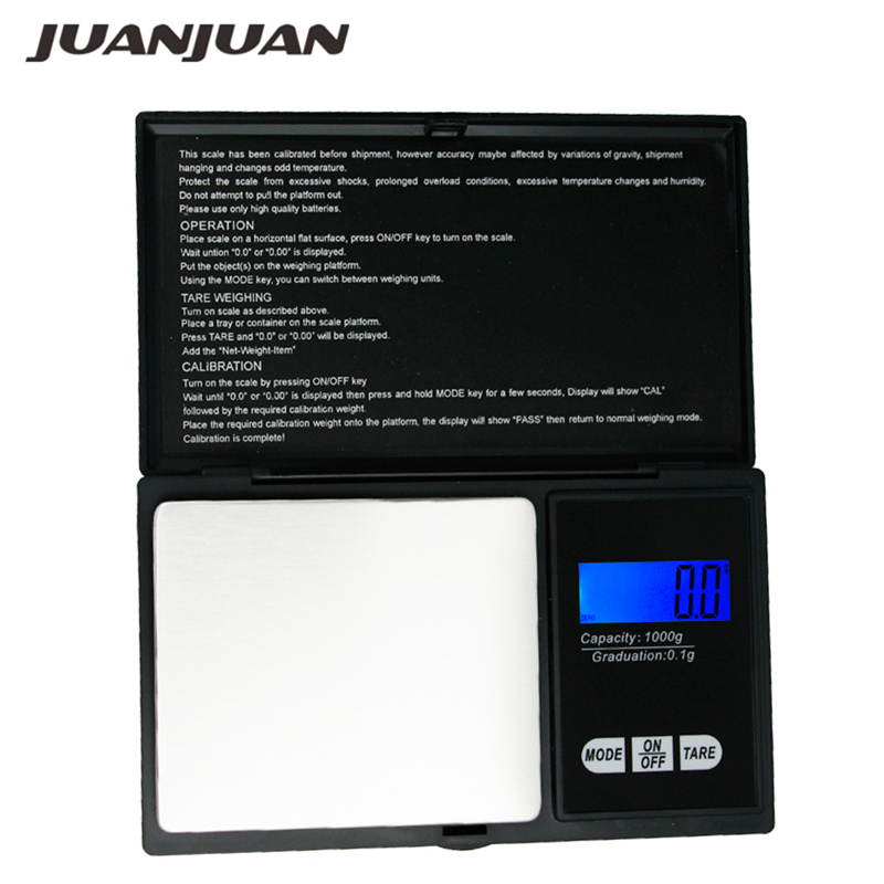 1000g//0.1g Mini Digital LCD Electronic Scale Jewelry Pocket Portable Gram Weight
