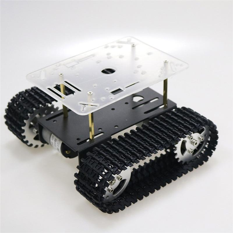 Plate-forme de voiture à chenilles avec châssis de réservoir Robot intelligent avec moteur 33GB-520 pour Arduino Robot à monter soi-même pièce de jouet mini T101 nouveauté 2018