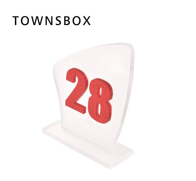 7.6x11cm 3D Acrylic Letter Number Block Stand Custom Letter Figure Hotel Counter top Desk Sign Table Signage Number Plate Board signage