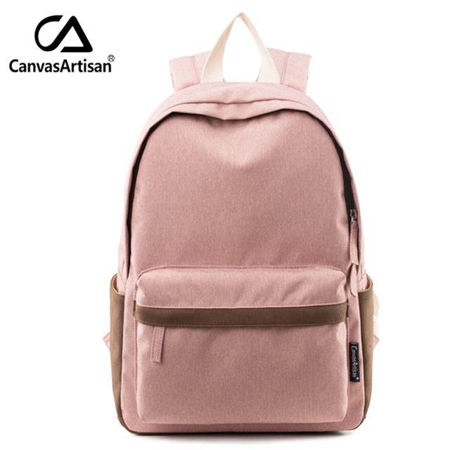 Canvasartisan Brand New Women Youth Canvas Backpack School Bags for Teenager Girls Bookbag Female Laptop travel Backpacks 2 Size