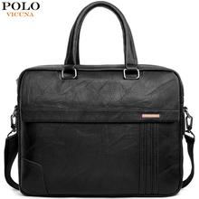VICUNA POLO Large Capacity Leather Mens Briefcase Bag Classic Business Office For Men Shoulder Handbag New Arrival