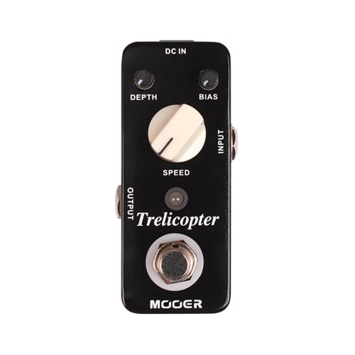 Mooer Trelicopter Classic Optical Tremolo Sound Guitar Effect Pedal With Huge Range Speeds/Depths mooer yellow comp classic optical compressing sound with smooth attack and decay further more guitr pedal effect pedal
