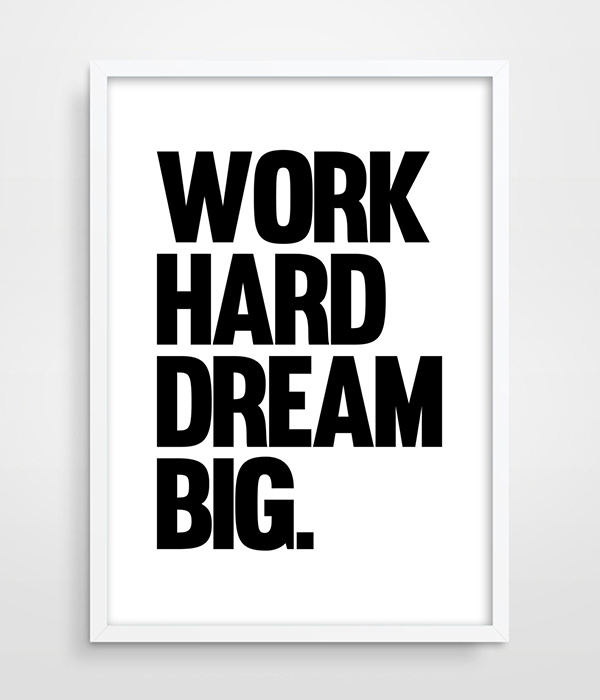 Inspirational Text Design Minimalist Poster In Black And White ...
