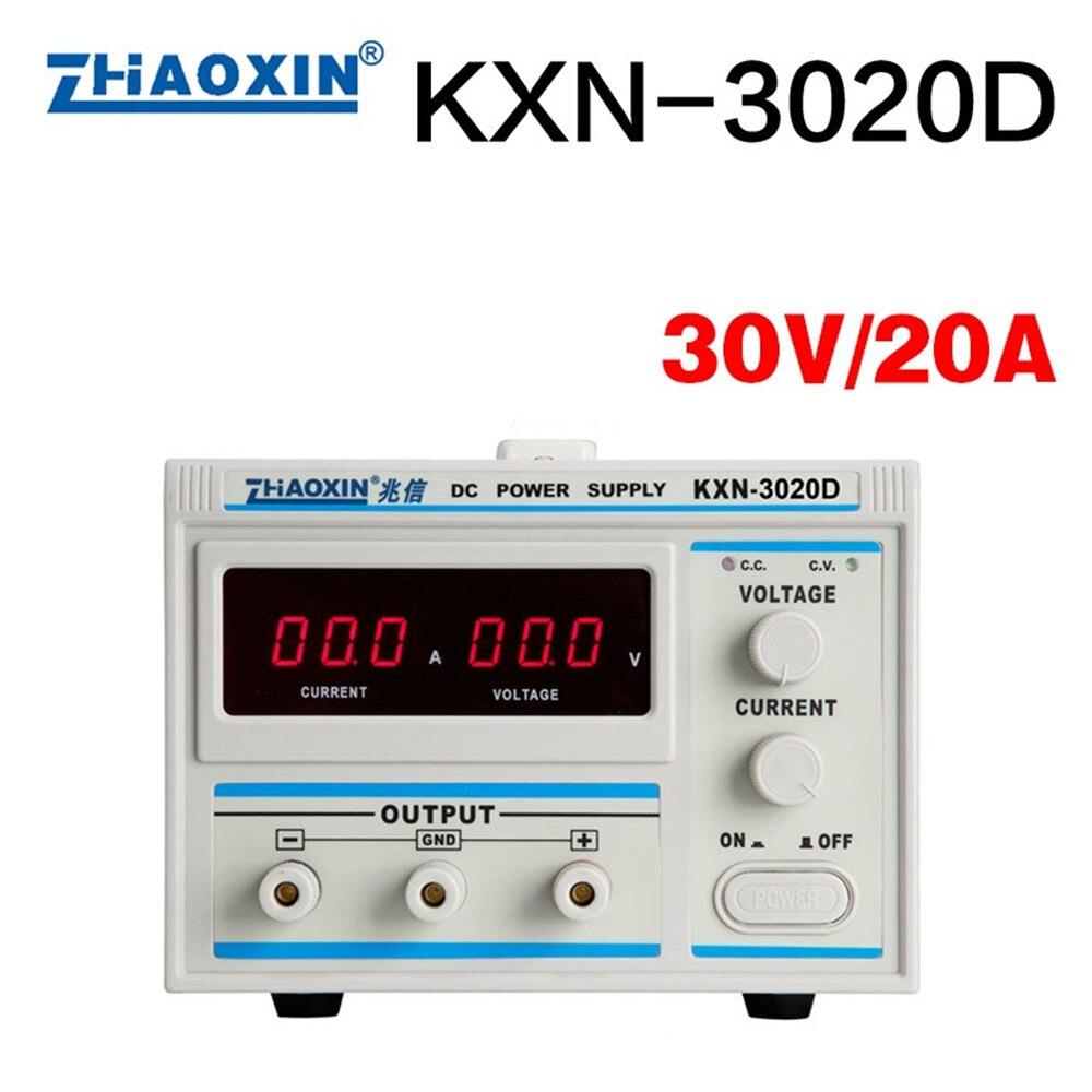 KXN 3020D 30 В в 20A мощность DC регулируется питание вход В 220 Высокое качество точность переменной регулируемый
