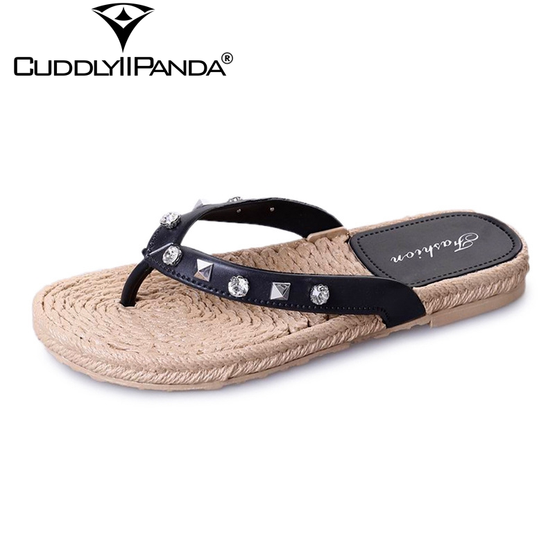 Cuddlyiipanda 2019 Summer Shoes Rivet Women Flip Flops -6968