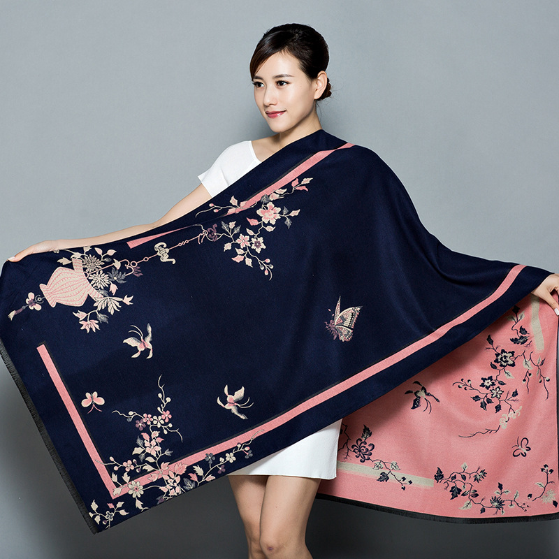 New Shawl Women's Thickening Warm Pashmina Cashmere Scarf Autumn Winter Oversize Soft Scarf Shawl Multipurpose Blanket