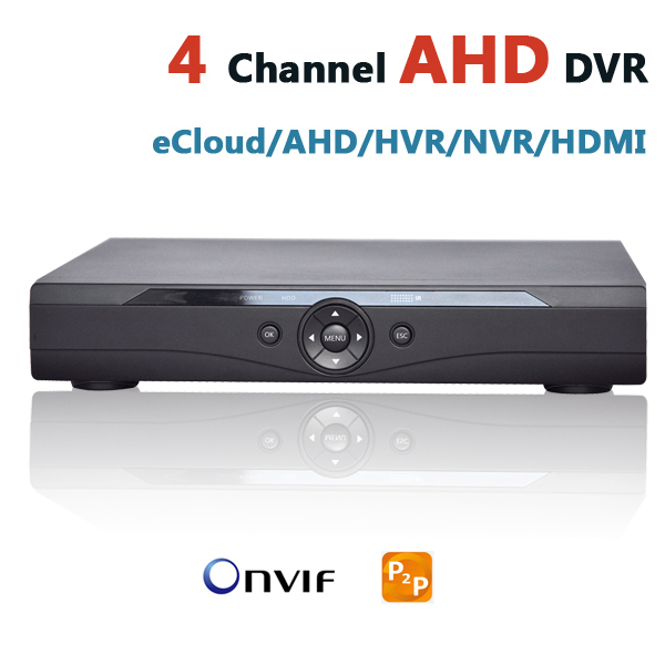 AHD DVR 4 Channel CCTV Recorder 4Ch HD Camera DVR Security Hybrid HVR NVR For 720P AHD  & Analog +IP Security Camera HD System cctv camera dvr system ahd 720p kit optional 2 3 4 channel cctv dvr hvr nvr 3 in 1 video recorder infrared dome camera security