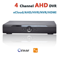 AHD DVR 4 Channel CCTV Recorder 4Ch HD Camera DVR Security Hybrid HVR NVR For 720P