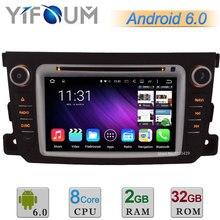 7 «HD 1024*600 Android 6 Окта основные 64-БИТ 2 ГБ RAM 32 ГБ ROM Dvd-плеер автомобиля Радио Стерео GPS Для Benz Smart Fortwo 2011-2014 DAB +