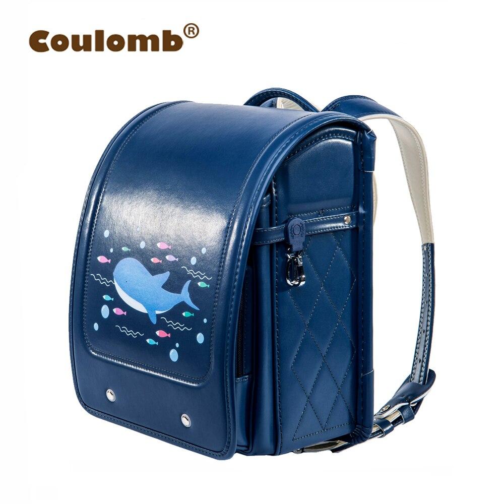 Coulomb Orthopedic School Bag Children Lovely Backpack Animal Prints Kid Japanese PU Hasp Orthopedic Backpacks 2018 New акустическая система pioneer s p01 lr