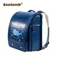 Coulomb Orthopedic School Bag Children Lovely Backpack Animal Prints Kid Japanese PU Hasp Orthopedic Backpacks 2017 New