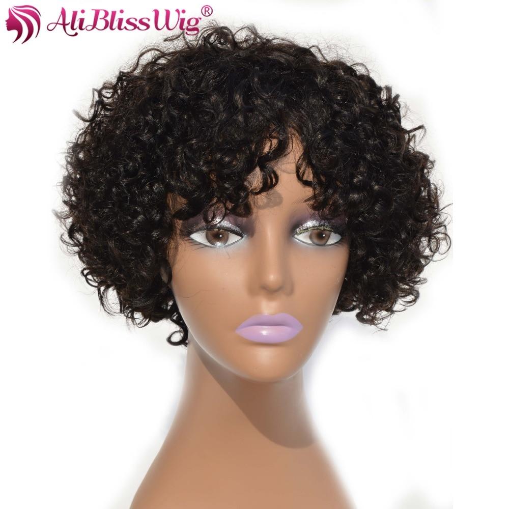 short hair brazilian curly weave alibaba aliblisswig short human hair wigs for black women curly