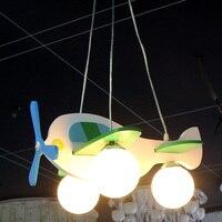 Потолочные светильники Модель самолета Стекло Лампы для мотоциклов для детей для малышей и детей постарше номера потолочный светильник Ос