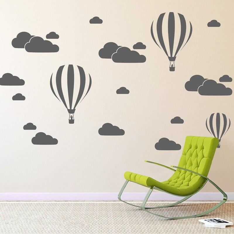 Nube Elio Balloon Wall Stickers Per Bambini Camere Vinile Home Decor ...