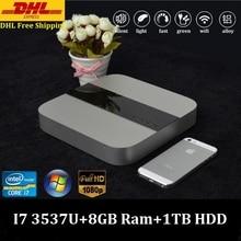 Mini PC i7 Smart Client Desktop Computer Intel Core i7 3537U Max 3.1GHz 8GB Ram 1TBB HDD HD Graphics 4000 DHL Free Shipping(China (Mainland))