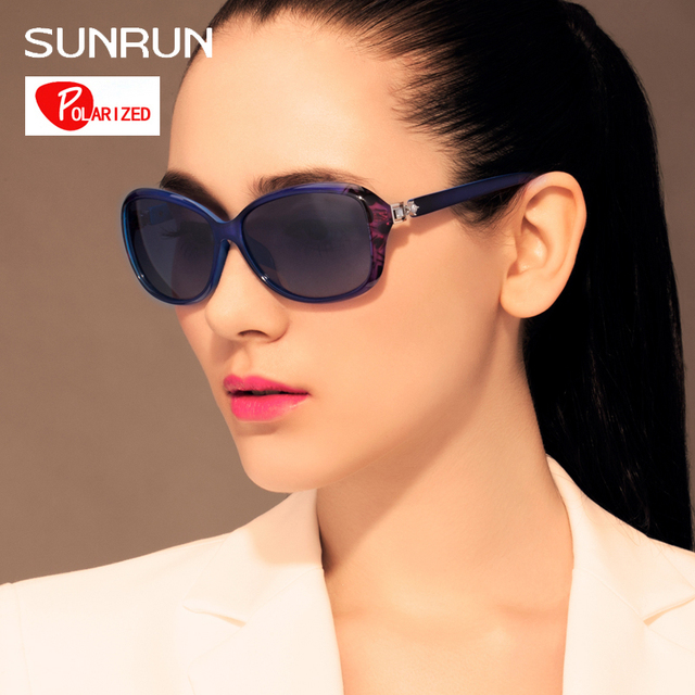 SUNRUN Retro TR90 Vintage Sunglasses Polarized Luxury Ladies Designer Women Sun glasses Eyewear oculos de sol feminino TR6027