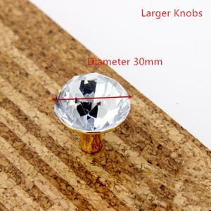 Image 5 - Glass Dresser Knob Crystal Drawer Knobs Handle Gold Clear Rhinestone Cabinet Door Handle Back Plate furniture hardware