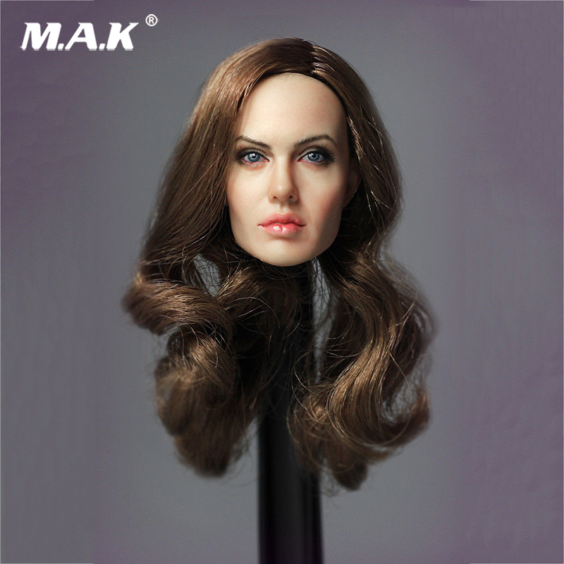 1:6 Scale LG04 Angelina Jolie Head Carving Model for 12 inches Action Figure 1 6 scale head sculpt km36 angelina jolie head 12 female action figure doll head carving model toys