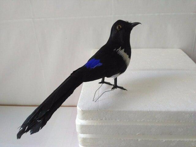 schaum federn k nstliche vogel elster ber 22 cm vogel. Black Bedroom Furniture Sets. Home Design Ideas