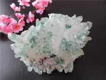 AAA+Unique Natural Green Crystal Cluster Skeletal Quartz Point Wand Mineral Healing Crystal Druse Vug Specimen Natural Stone