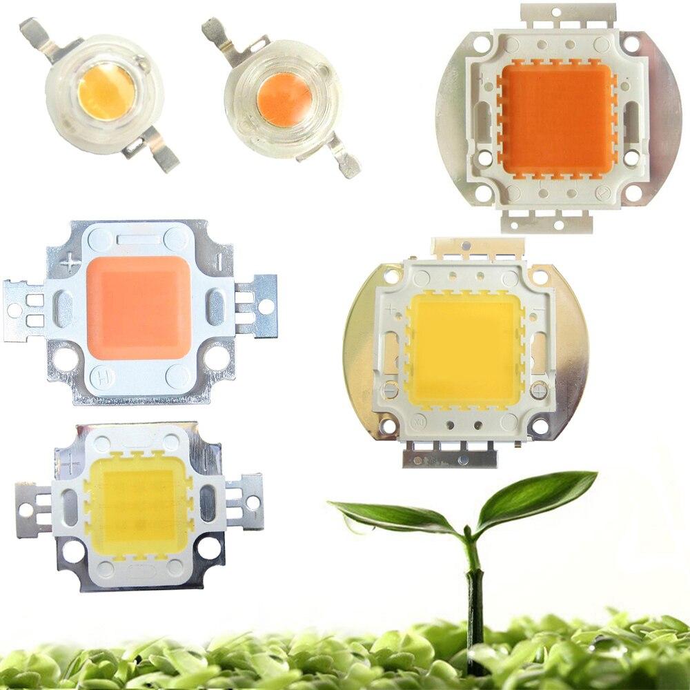 High Power 45mil 3W 10W 20W 30W 50W 100W Full Spectrum 400~840nm White Full Spectrum 380-780nm LED Grow Light Diodes Bulb Part(China)