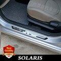 Накладка на порог из нержавеющей стали подходит для HYUNDAI SOLARIS 2010-2019 SOLARIS