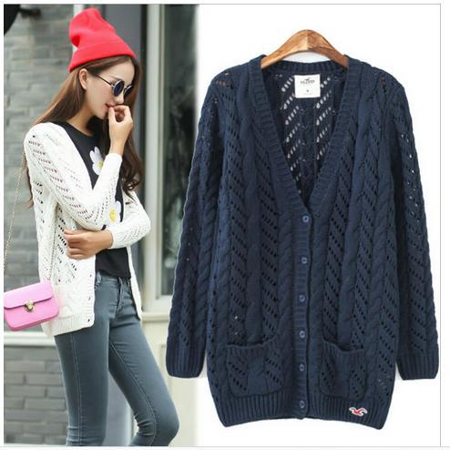 Online Shop Sweaters For Women 2014 Casual Knitted Cardigans V ...