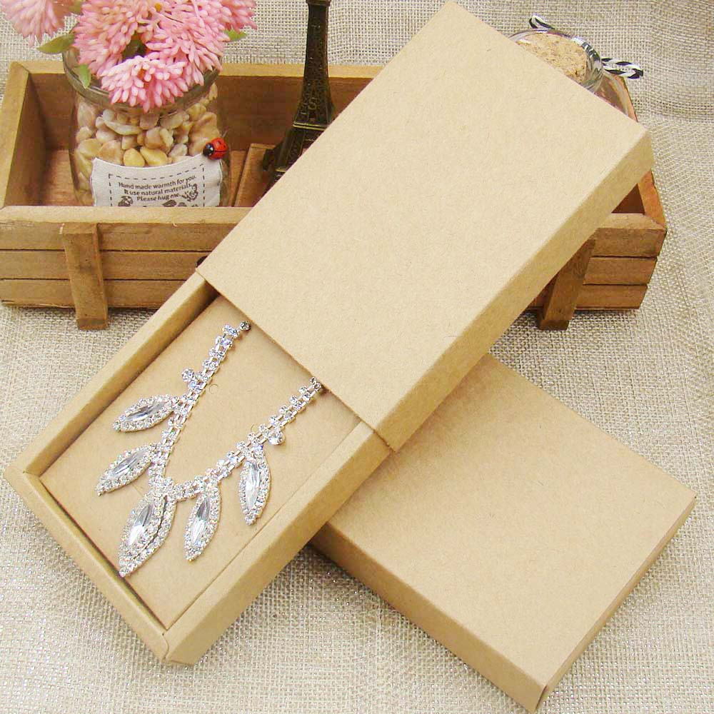48pcs 4531510inch kraft paper jewelry display box custom logo 48pcs 4531510inch kraft paper jewelry display box custom logo printed necklace pendant box earring package cardboard box mozeypictures Choice Image