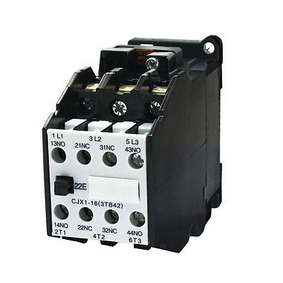 цена на 35mm DIN Rail Mounted 3 Pole 2NO 2NC 380V 50HZ Coil AC Contactor CJX1-16