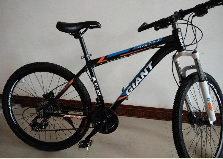 free shipping 26 21 speed black rainbow classic mens mountain bike cycling road bicycle double disc brake men & women cycling