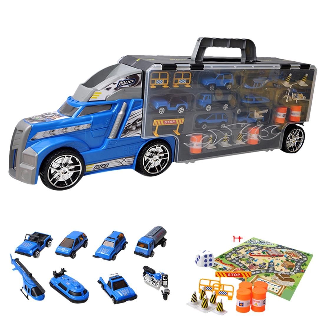 1 ensemble Portable conteneur camion Simulation voiture conteneur camion avec alliage petit véhicule jouets ensemble pour enfants 2018 nouveauté