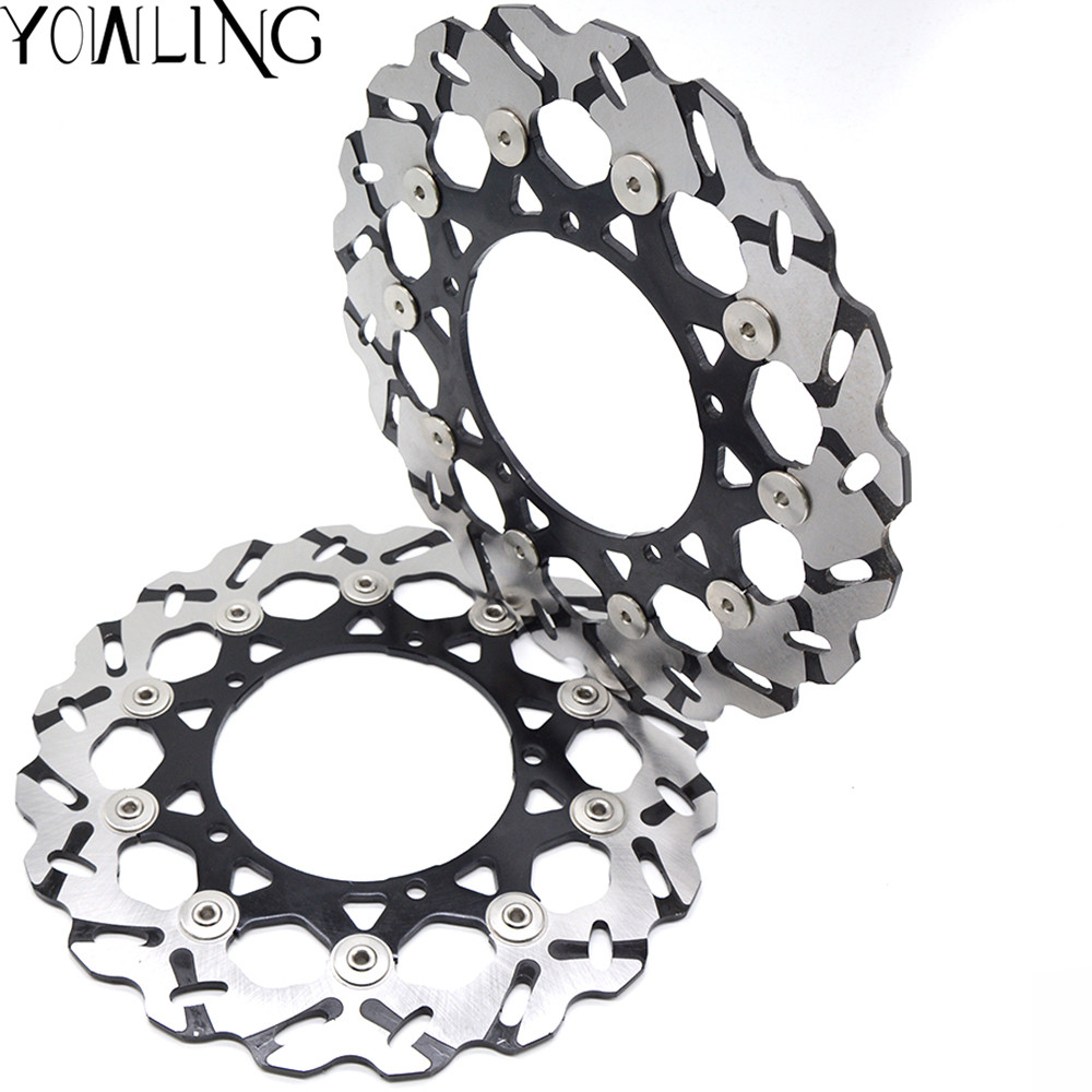 Motorcycle Parts Accessories Front Floating Brake Discs Rotor for YAMAHA YZF600 YZF-R6 YZF R6 2007-2012 YZF1000 YZF R1 2007-2013 free shipping moto brake rotor disc for yamaha xj6 xj600 diversion 09 11 yzf r6 tzf r6 r600 03 04 mt 03 660 06 11