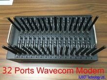 32 ports Wavecom  Q2303 module bulk sms modem pool 32 sim cards simbox IMEI changeable USSD STK recharge System