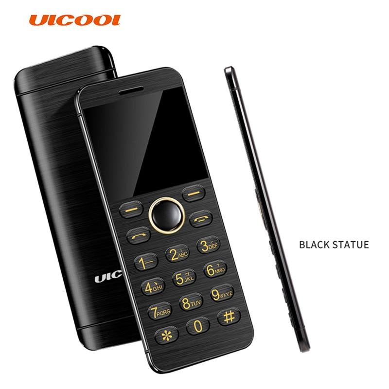 ULCOOL V16 Phone 1.54Inch Super Mini Ultrathin Card Metal Body Bluetooth 2.0 Dialer MP3 Dual SIM Card Mini Mobile Phone