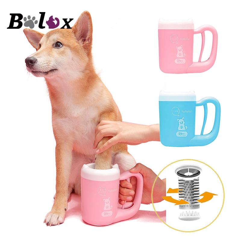 Pata de animal doméstico lavadora perros sucio pie pata limpieza taza para cachorro de perro Paw limpiador aseo cepillo perro suministros para mascotas accesorios