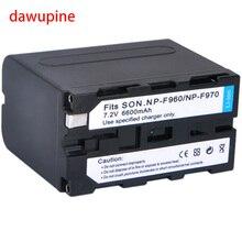 7.4 V 6600 mAh Li-ion Bateria Da Câmera Para Sony NP-F930 NP-960 NP-970 F950 F750 F770 F550 F570 F330
