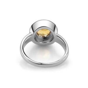 Image 4 - GEMS BALLETT Natürliche Citrine Klassische Schmuck Set 925 Sterling Silber Ohrringe Ring Set Für Frauen Hochzeit Geschenk Edlen Schmuck Neue