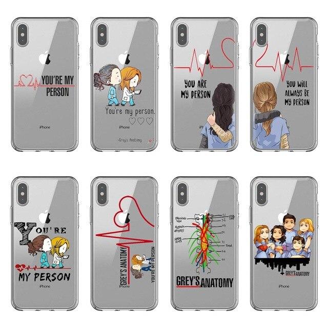 Grays Anatomia você é a minha pessoa Phone Cases Capa Para iPhone X10 Max 6 6 S Plus SE 5S 7 coque 8 mais Suave silicone TPU Capa Shell