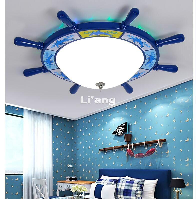 Бесплатная доставка Спальня мультфильм поверхностного монтажа Потолочные светильники современных детей потолок Лампы для мотоциклов E27 AC