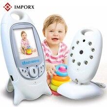 2.0 polegada Cor de Vídeo Sem Fio Do Bebê Monitor Da Câmera de Segurança 2 Way Discussão Night Vision IR LED de Monitoramento de Temperatura com 8 canção de ninar
