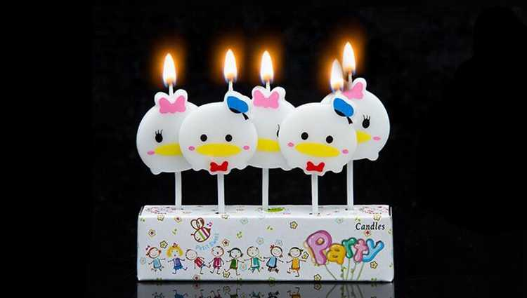 [RainLoong] Artle świeca kurczaka Cartoon na urodziny świeczka urodzinowa dekoracja RCT-20