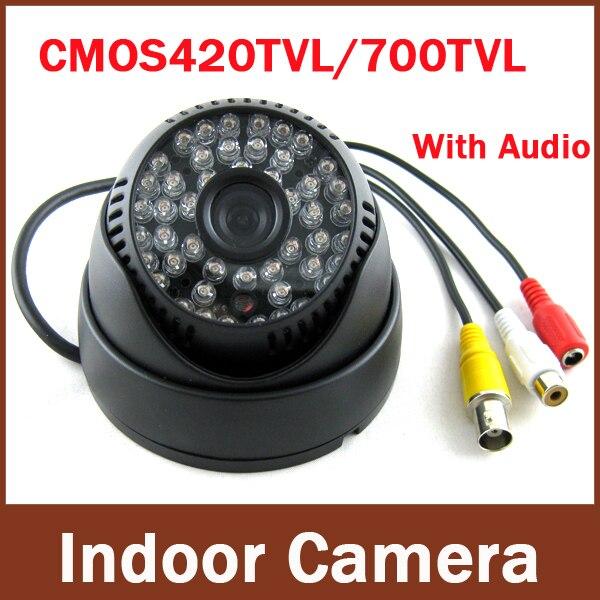 bilder für Neueste beliebtesten Überwachung Audio 700TVL Farbe Ir-innenhaube CCTV Überwachungskamera
