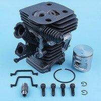 42mm nikasil cilindro pistão coletor de admissão kit gaxeta para husqvarna 445 450 rancher 445e 450e ii motosserra peças reposição|Motosserras| |  -