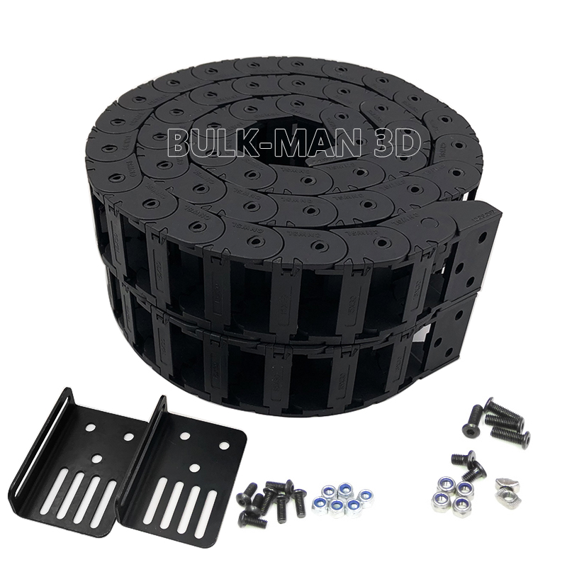 Open Cable Drag Chain Mounting Carrier 15x30mm Bridge Type Opening Plastic Towline Transmission Drag Chain For WorkNee CNC Ch=